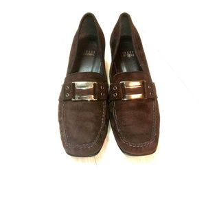 Stuart Weitzman leather slip on loafer shoes sz 8